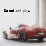 En Porsche Cayman GTS sur une piste de karting !