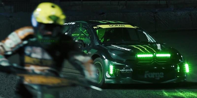 DS3 Rallycross vs Speedway Moto… Drift en 4 et 2 roues