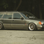 """LowHouse Stanced"" - Mercos W124 Estate : Slammed Parpaing !"