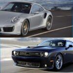 On s'est trompé de pays : Prix d'une Challenger SRT Hellcat vs Porsche 911 Turbo S