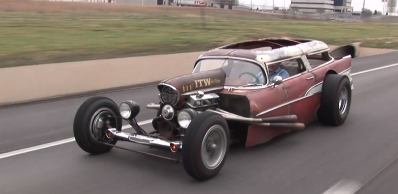 1957 Chevrolet Wagon Rat Rod : Rusty Metal ! De l'essence dans mes veines