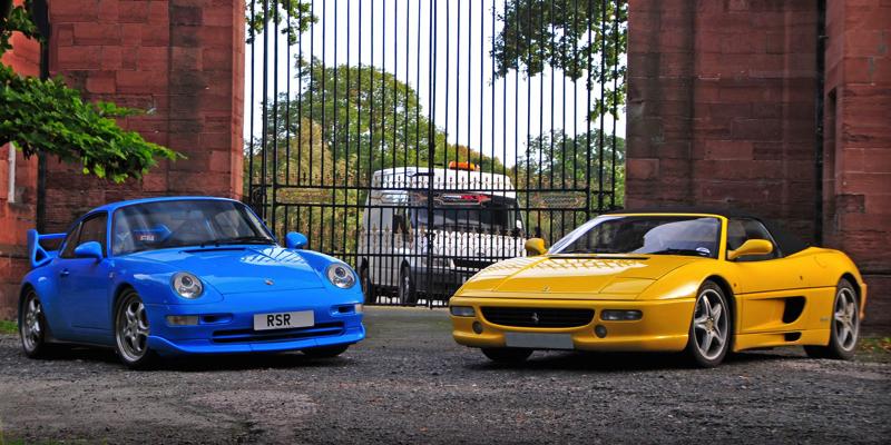 Porsche 993 Carrera RS vs Ferrari 355 Spider : 90's Battle