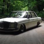 Bagged Mercedes W115... Matelas pneumatique !