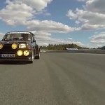 Renault 5 Maxi Turbo 2 vue d'une 997 Turbo S - Ambiance !
