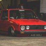 VW Golf 1 slammed… Mais très slammed hein !