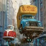 """""""Universe Scrap"""" - Flying classic cars post-apocalytique totalement envoutant ! 19"""