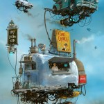 """Universe Scrap"" - Flying classic cars post-apocalytique totalement envoutant ! 18"