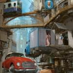 """""""Universe Scrap"""" - Flying classic cars post-apocalytique totalement envoutant ! 17"""