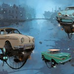 """Universe Scrap"" - Flying classic cars post-apocalytique totalement envoutant ! 14"