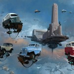 """Universe Scrap"" - Flying classic cars post-apocalytique totalement envoutant ! 11"