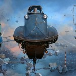 """Universe Scrap"" - Flying classic cars post-apocalytique totalement envoutant ! 9"
