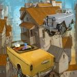 """""""Universe Scrap"""" - Flying classic cars post-apocalytique totalement envoutant ! 4"""