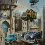 """Universe Scrap"" - Flying classic cars post-apocalytique totalement envoutant ! 3"