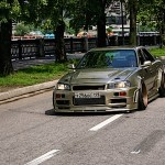 "Nissan Skyline R34 sedan : ""The Wide"""