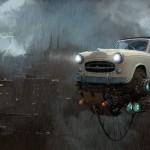 """""""Universe Scrap"""" - Flying classic cars post-apocalytique totalement envoutant !"""