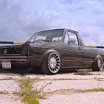 VW Caddy - Black slammed !