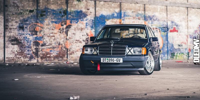 Maxime's Mercedes 190e – La vieille et le bad boy !