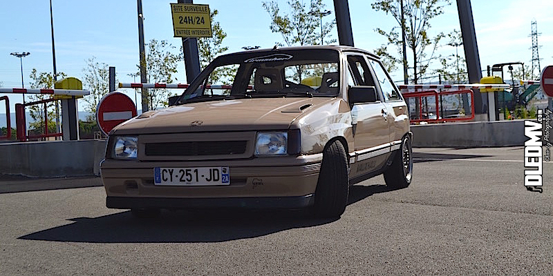 L'Opel Corsa GSI 16v d'Alain… Qui s'y frotte s'y pique !