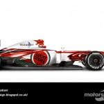 Des F1 modernes en robes vintage ! 14