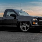 Slammed Chevy Silverado Blacksheep