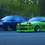 Sprinter Trueno GT Apex AE86 vs Impreza WRX STI 22B… Sushi battle !