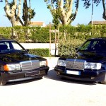 German duo… Mercedes 500E vs 190 2.3 16s