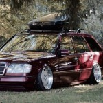 Mercedes Estate W124 en Airride ! Low & Slow...
