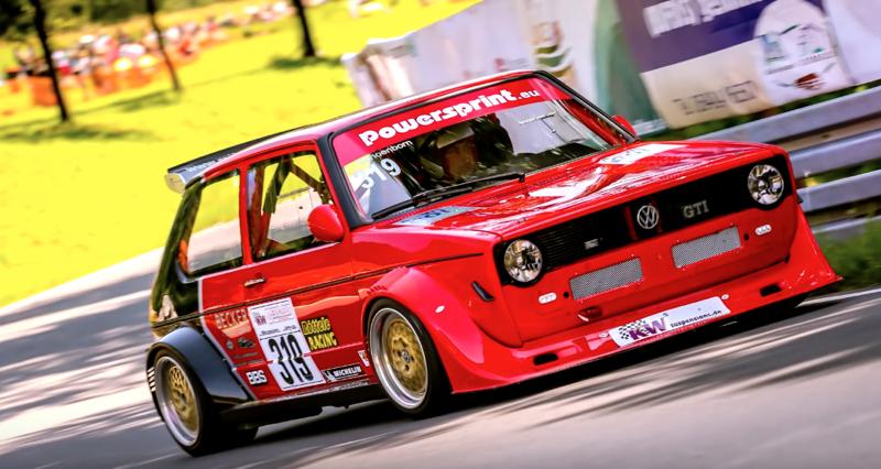 DLEDMV - VW Golf 1 hillclimb Schonborn - 02