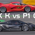 Engine Sound : Ferrari FXX K vs McLaren P1 GTR