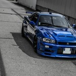 Skyline R34 GT-T - En bleu et en France...