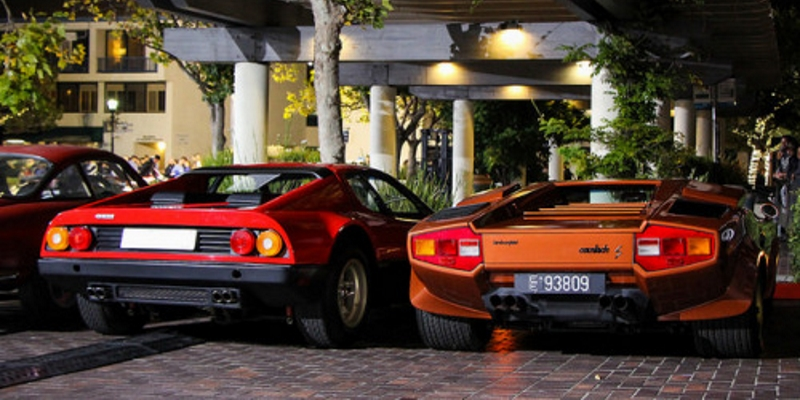 ferrari 512 bb vs countach lp400
