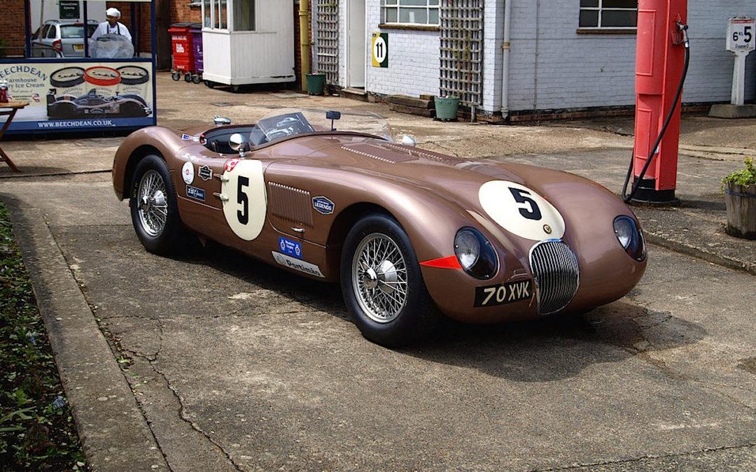 La Jaguar Type C de Fangio sous la pluie… Fallait être burné quand même !