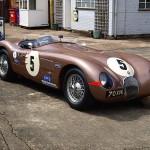 La Jaguar Type C de Fangio sous la pluie... Fallait être burné quand même !