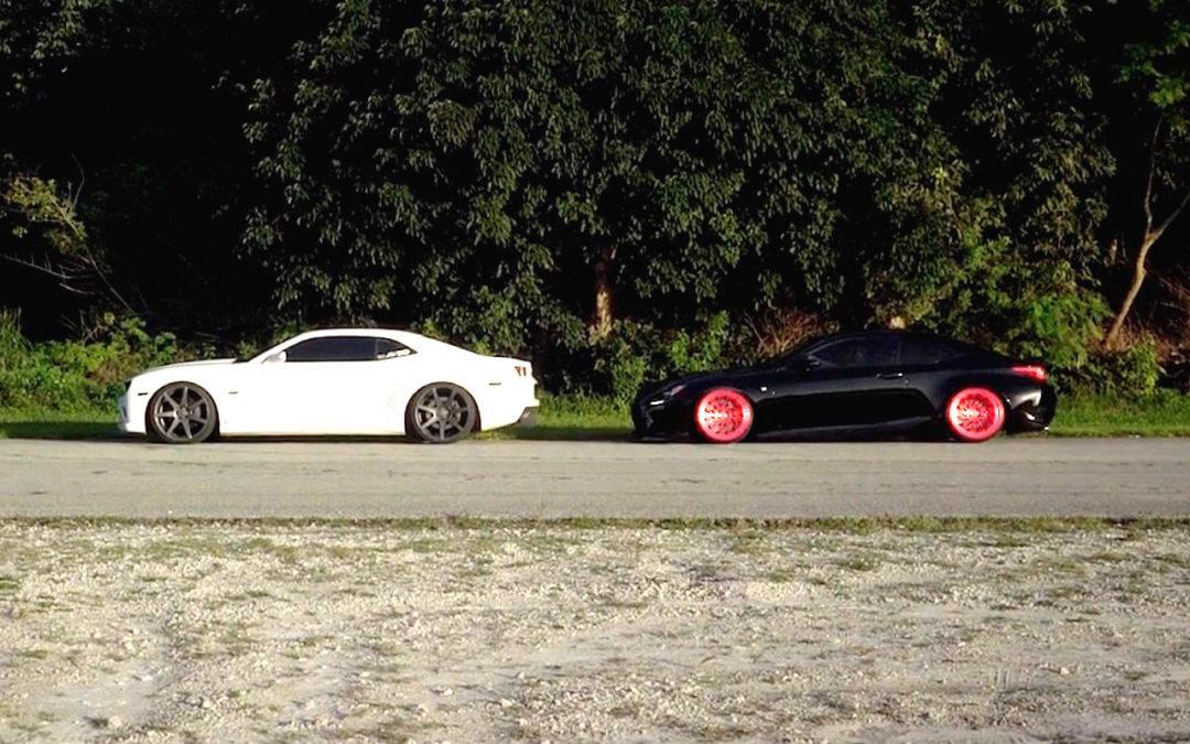 Camaro VS Lexus RCF – On est bien en Vossen !