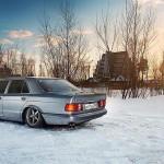 Mercos W126 280 SE... Le drift en pullman c'est classe aussi !
