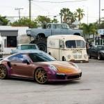 Porsche 911 Turbo S posée sur du Vossen 4