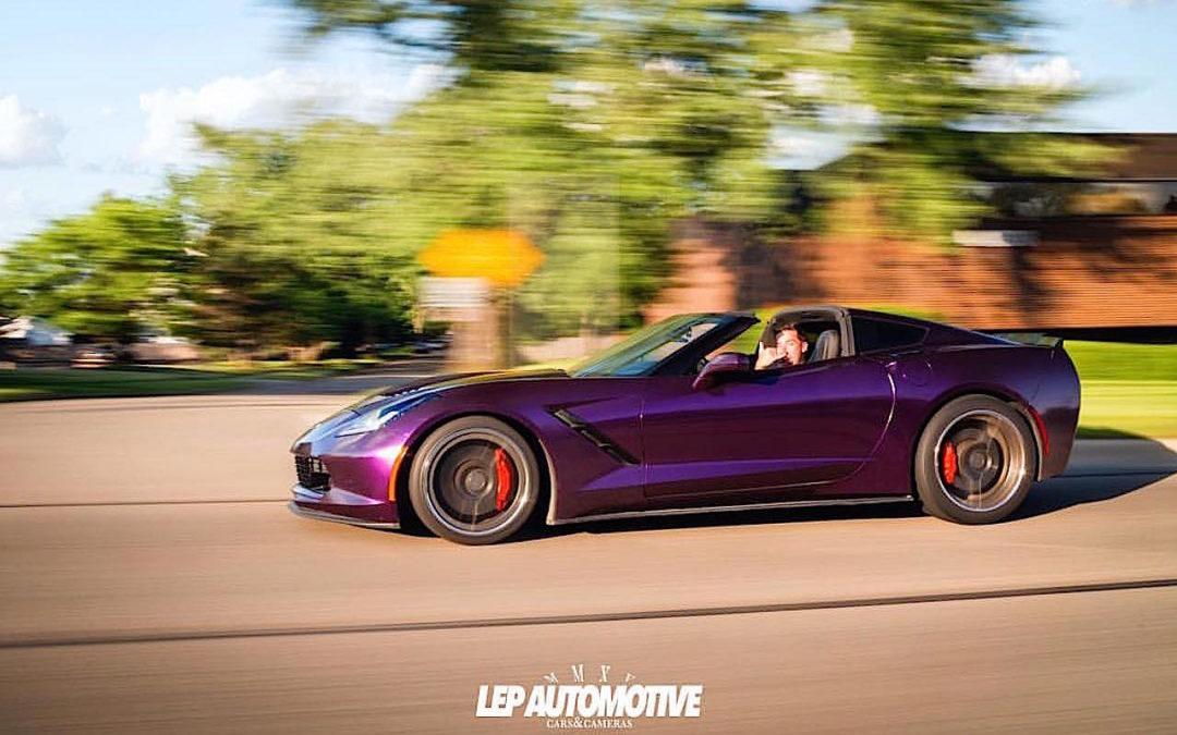 Midnight Purple Corvette C7… Bestiale