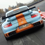 Porsche 997 GT2 9ff... 850 ch habillés en Gulf !