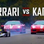 Battle : Ferrari F430 Scuderia et 360 Challenge Stradale vs Go Kart...
