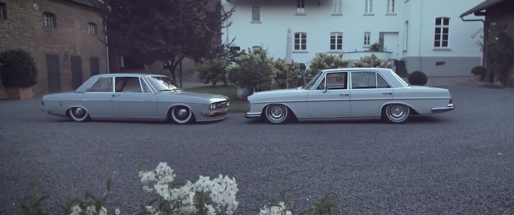 Mercedes 280SE & Audi 100 LS -
