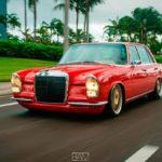 Red Bagged Benz W108… Mélange des genres !