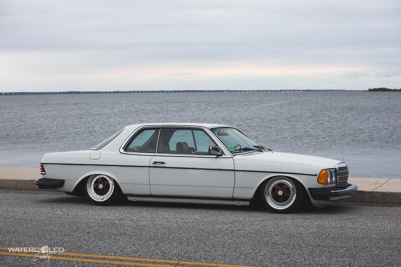 Mercedes 280 CE bagged... My classic is fantastic ! 5