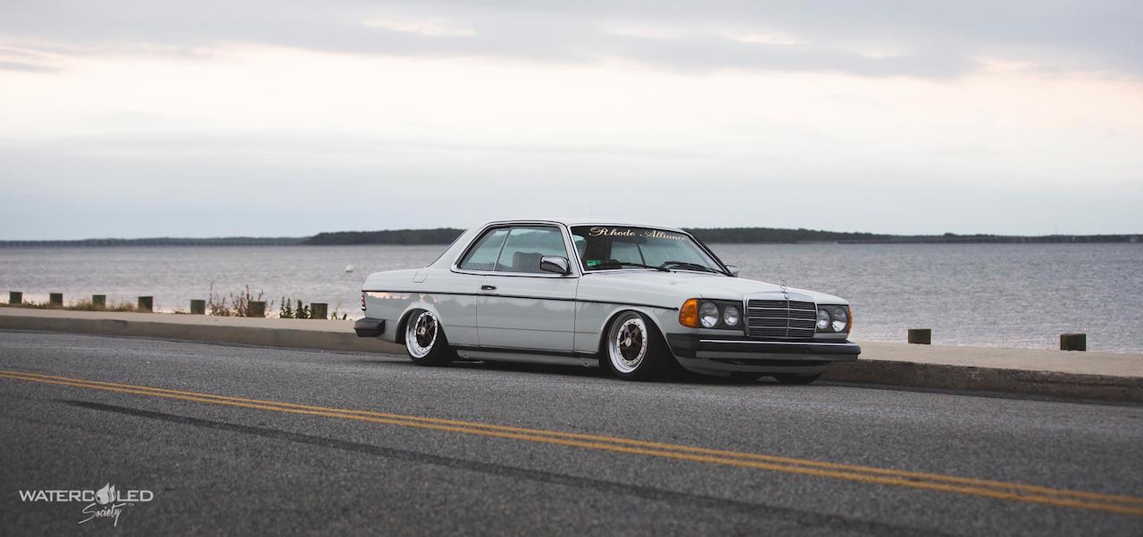Mercedes 280 CE bagged... My classic is fantastic ! 7