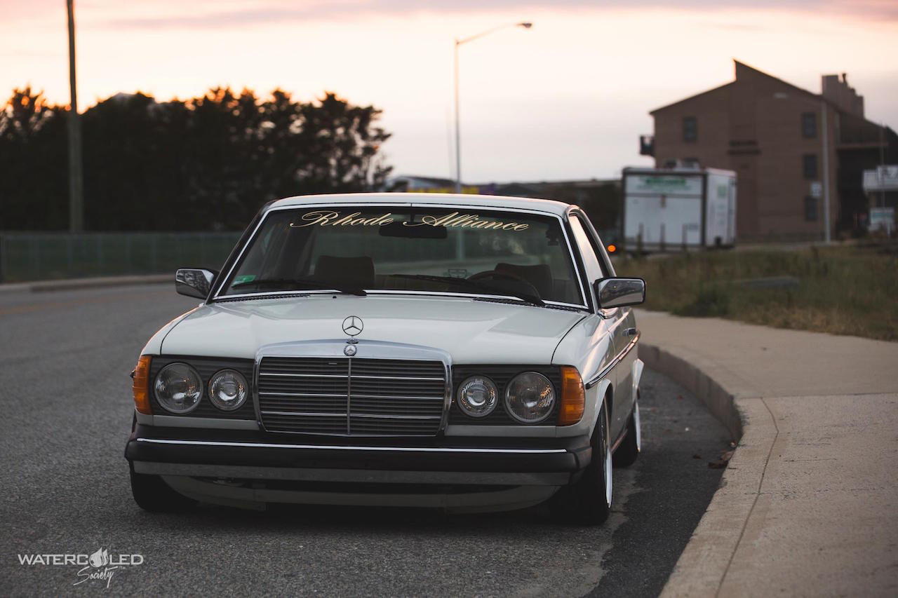 Mercedes 280 CE bagged... My classic is fantastic ! 13