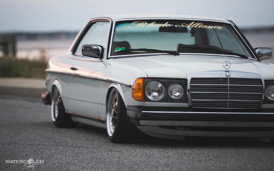 Mercedes 280 CE bagged… My classic is fantastic !