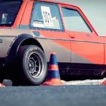 Fiat 128 Abarth - Slalom avec la caisse à mamie !