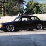 Slammed Volvo 240 - Blake in black !