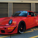 "Seattle Porsche 964 RWB : ""The Lady in red"""