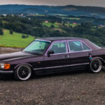 Bagged Mercedes 280 SE W126 par Magic Garage