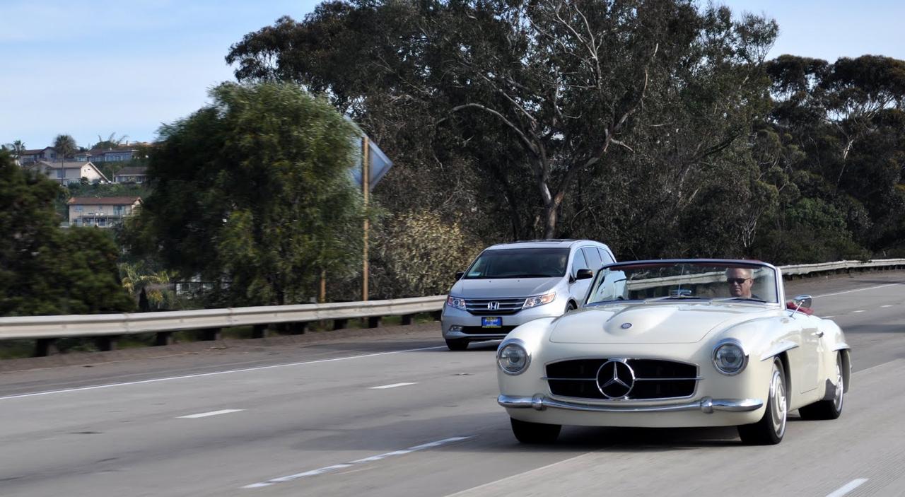 """'61 Mercedes 190 SL... La """"Mercedes Bent"""" un peu spéciale ! 9"""